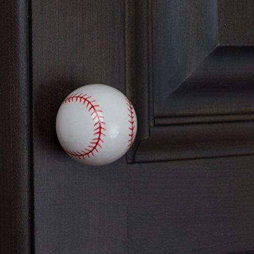 GlideRite Hardware 1001-BB-10 Baseball Sports Cabinet Dresser Knobs 10 Pack by GlideRite Hardware (Image #3)