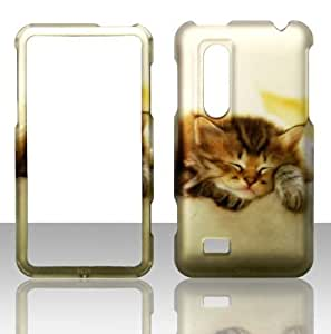 2D Kitty Cat LG Thrill 4G, Optimus 3D P920, P925 at&t Case Cover Phone Snap on Cover Case Faceplates