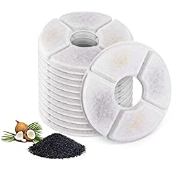 TOOGOO Filters for Cat Fountain-Pack of 12, Cat Fountain Filters, Suitable for The Flower Fountains and Most Same Size Cat Fountains. Ion Exchange Resin and Activated Carbon. (4.92 inch)