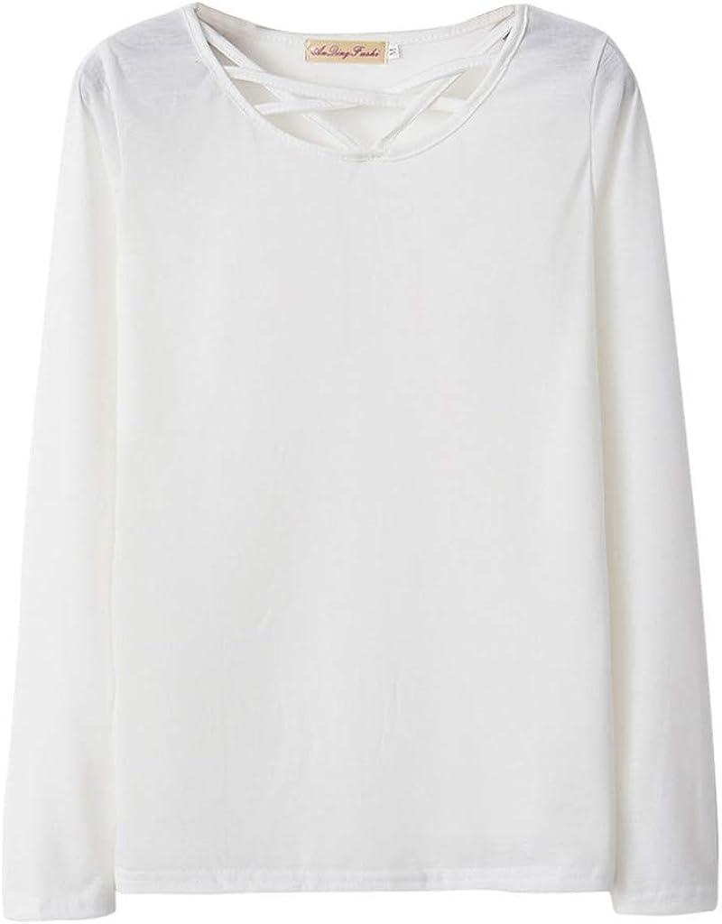 VEMOW Camisa Mujer Sudadera Blusa Suelta Moda Casual SóLido De Manga Larga De Color Puro para Mujer Pullover Tops Blusa OtoñO Invierno: Amazon.es: Ropa y accesorios