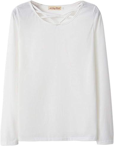 Sylar Camisetas Mujer Manga Larga Camisetas De Color Sólido para Mujer Camisas Mujer Elegantes Blusa Tops Otoño Blusa Mujer Fiesta Tops Blusa Mujer Elegante Manga Larga: Amazon.es: Ropa y accesorios