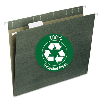 Recycled Hanging File Folders, 1/5 Tab, 11 Point Stock,