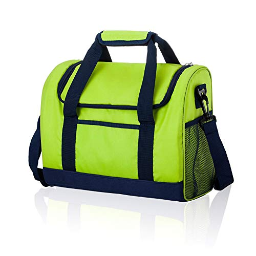 Double Ss Adult Insulated Lunch Box Large Lunch Cooler Bag for Kids Women Men Soft Lunch Tote Box for Office&School(Green)