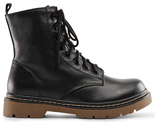 Marco Republic Navigator Womens Military Combat Boots - (Black) - (Clearance Combat Boots)