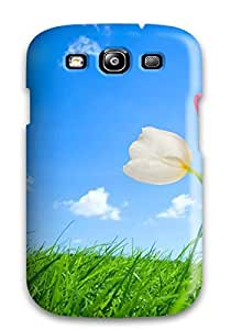 Slim Fit Tpu Protector Shock Absorbent Bumper Nice Tulips Drawing Case For Galaxy S3