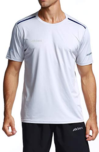 1b18b7213 Akilex Men's Running Dry Fit T-Shirt Athletic Outdoor Short Sleeve  Comfortable Top