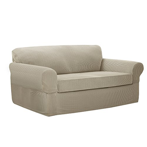 MAYTEX Connor Stretch 2-Piece Loveseat Furniture Cover/Slipc