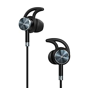 TaoTronics Active Noise Cancelling Headphones, Wired Earphones in Ear Corded Earbuds with 15 Hours Playtime and Built-in Microphone (Noise Reduction, Aluminum Alloy Construction, Gold-Plated Jack)