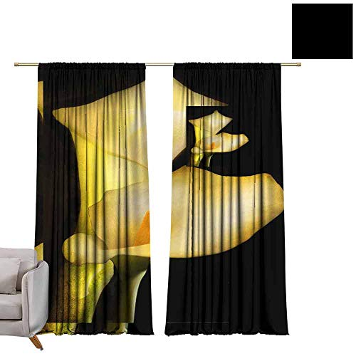 berrly Pocket Thermal Insulated Tie Up Curtains Calla Lily (2) W84 x L96 Shades Window Treatment Valances ()