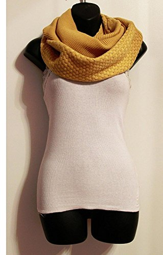 Easy-W_neck warmer Shawl circle (US Seller)Mustard_Knit infinity scarf oversized from Easy-W