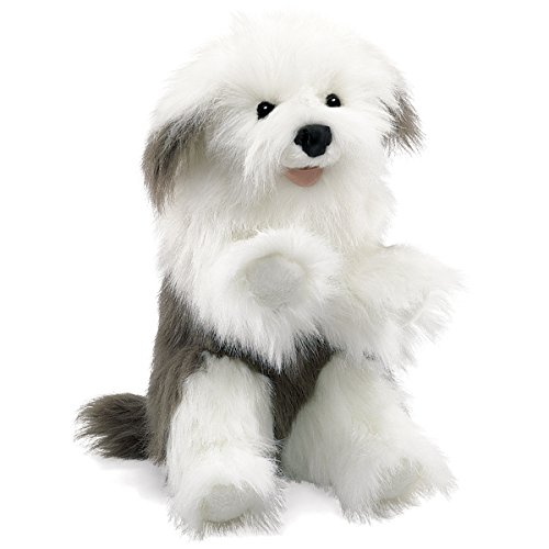 Folkmanis Sheepdog Hand Puppet Big Mouth Animal Puppets