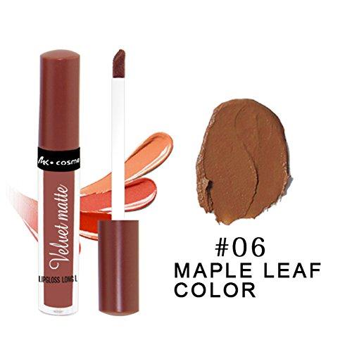 Alian Long Lasting Lipstick Hosamtel Single Color Sexy Kissproof Non-Stick Cup Velvet Matte Liquid Lip Gloss Moisturizing Lip Stains Lip Glaze
