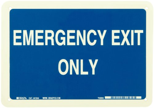 Brady White Directional Legend Emergency