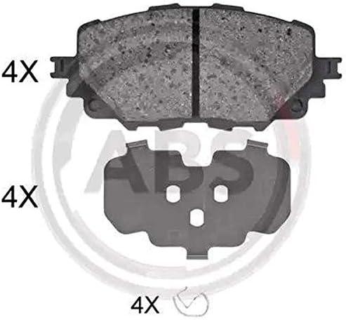 Kit 4 pastiglie freno posteriori ECP Kit 4 pastiglie freno anteriori Ecommerceparts 9145374999947 Abs