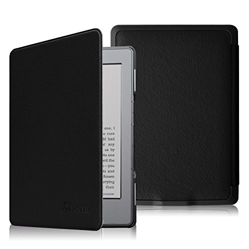 Fintie Slim Case for Kindle 5 & Kindle 4 - The Thinnest and Lightest PU Leather Cover with Magnet Closure (Only Fit Kindle with 6'' E Ink Display, Does Not Fit Paperwhite or Touch), Black (Covers For Kindle 4)