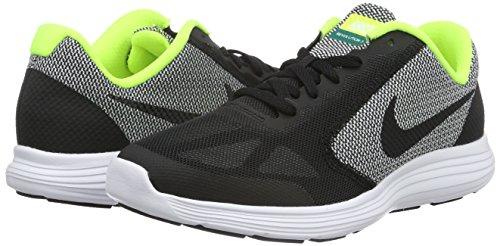 Nike Boys' Revolution 3 (GS) Running Shoe Black/White/Volt, 4.5 M US Big Kid by Nike (Image #5)