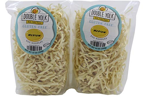 Double Yolk Gluten Free Medium Egg Noodles,10 Ounce Bag (Pack of 2)