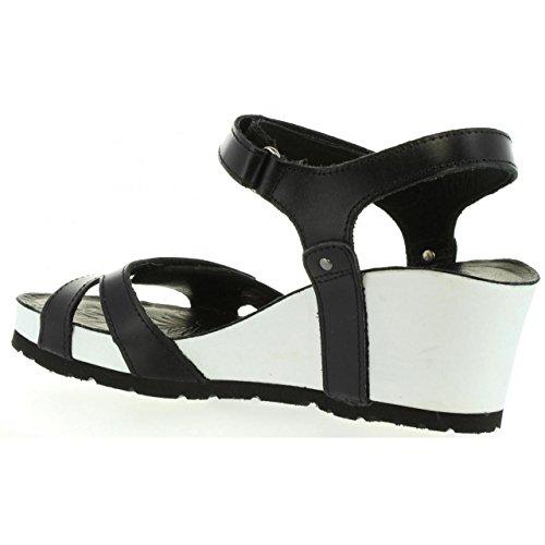 Sandalias de Mujer PANAMA JACK JULIA BW B1 NAPA GRASS NEGRO