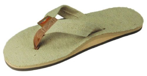 Rainbow Sandals Mens Hemp Eco-Sandals - Natural - Rainbow Men