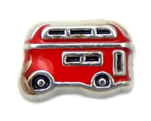 fan products of Cherityne Routemaster London Red Bus Floating Charm for Locket Pendants