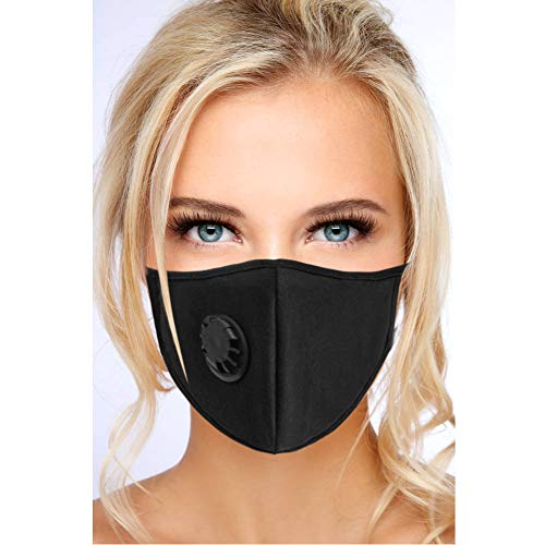 - N95 N99 Particulate Respirator Mask - Anti Air Pollution Mask with Exhalation Valve - Washable and Reusable Face Protection - Resist Dust, Smoke, Allergies, for Men Women - Black