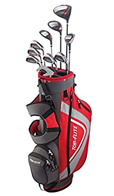 Top Flite XL 13-Piece Complete Golf Set Mens Regular Flex - Red - New 2018