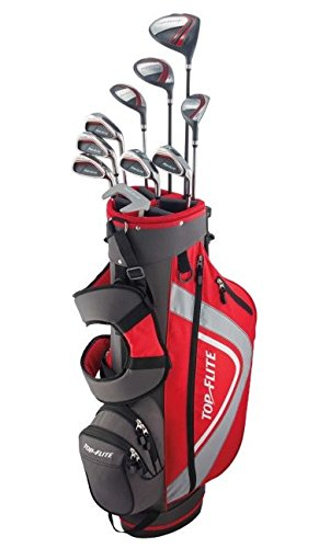 Top Flite XL 13-Piece Complete Golf Set Mens Regular Flex - Red - New - Xl Flite Mens Top
