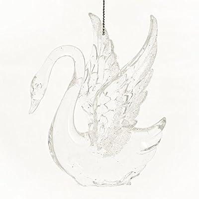 Beautiful Swan Acrylic Hanging Christmas Ornament