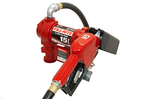 Fill-Rite FR1210GA 12V 15 GPM (57 LPM) Fuel Transfer Pump with Discharge Hose, Automatic Nozzle (Unleaded), Suction Pipe Auto Fuel Pump Problems