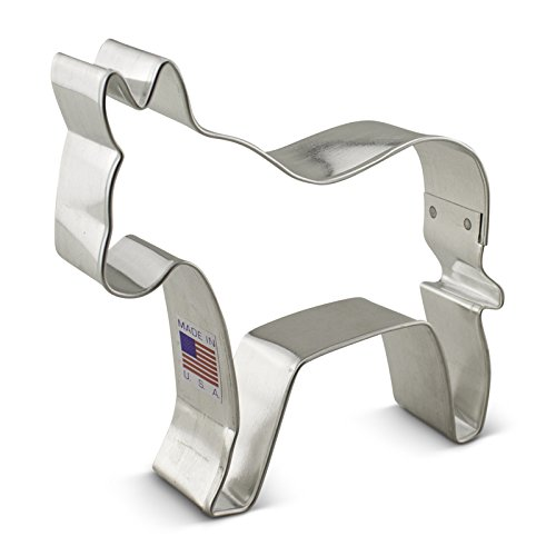 Donkey Cookie Cutter3.75 InchesTin Plated Steel