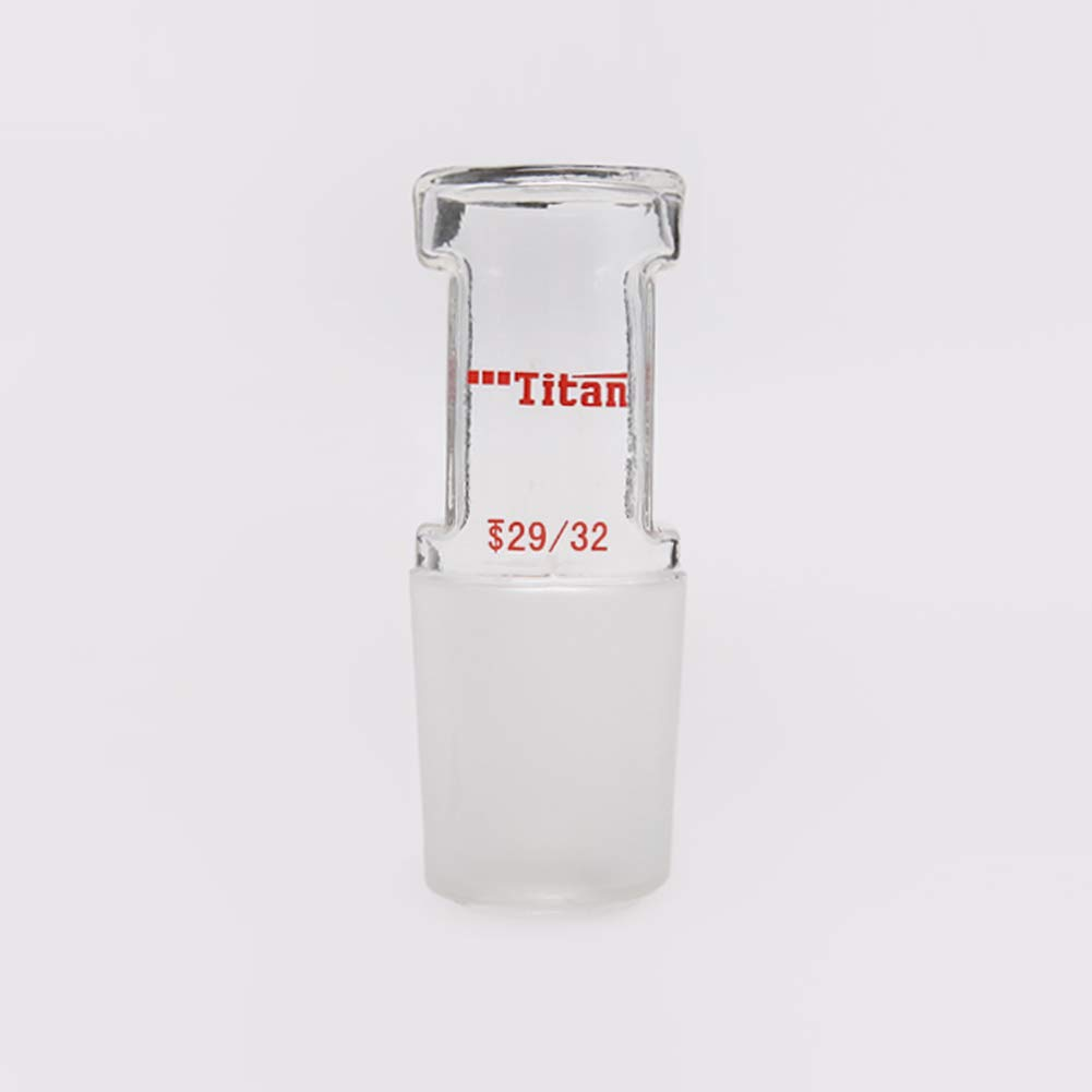 Tansoole Bouchons en Verre Borosilicate Creux Rectilignes Solide avec 14//23 Standard Taper Joint