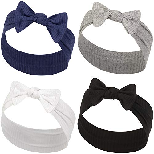 - YOUR NEW FAVORITE BABY HEADBANDS - 2 PACK - Super Stretchy Knot Newborn & Baby Headbands