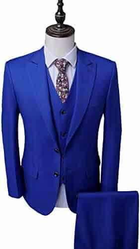 655b70046680a6 Men's Royal Blue Groom Tuxedos 3 PC Men Suits 2 Buttons Wedding Suits for  Men