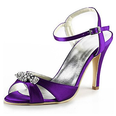 Blue Dark Crystal Purple US9 Satin Evening EU40 Shoes Heeldark Stiletto Summer Wedding Spring Basic Wedding Ruby RTRY CN41 amp;Amp; Blue UK7 Stretch Pump Women'S Party qOTxwa1nHf