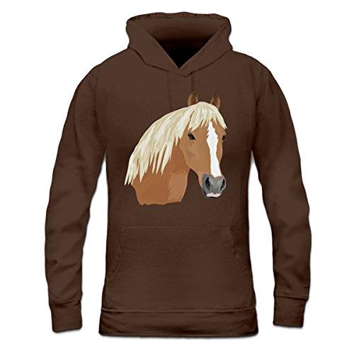 Sudadera con capucha de mujer Haflinger cabeza de caballo by Shirtcity Marrón