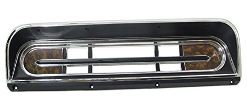 INSTRUMENT CLUSTER BEZEL BLACK CHROME WOODGRAIN FITS 1967-1972 FORD TRUCK F100 F250 F350 WITH RANGER PACKAGE ()
