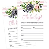 50 Fill in Floral Baby Shower Invitations, Baby Shower...