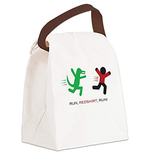 Star Trek Lunch - CafePress Run, Redshirt, Run! Canvas Lunch Bag with Strap Handle