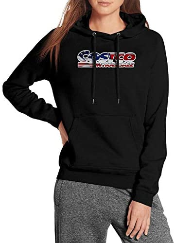 Womens Best Hoodies Costco-Whole-Original-Logo-Athletic Fit Sweatshirt Soft Drawstring Oversized Sweaters