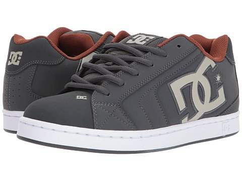 (ディーシー) DC メンズスニーカー靴 Net [並行輸入品] B076GPCKTT 18 (n/a) D - M|Dark Shadow/White/Athletic Red Dark Shadow/White/Athletic Red 18 (n/a) D - M