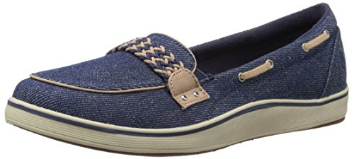 Grasshoppers Women's Windham Slip-On, Denim Blue, 7.5 M US by Grasshoppers