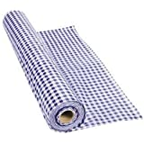 Fun Express - Purple Gingham Tablecloth Plastic Roll 100FT X 40 Inches