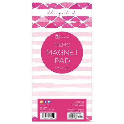 TF Publishing Thing to Do Memo Magnet Pad - Pink/White Watercolor Memo Magnet Pad