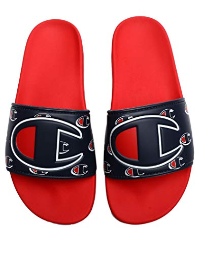 Champion Mens IPO Repeat C Slide, Adult, Logo Red/Navy, 14 M US ()