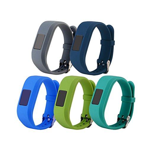 5-Pack Replacement for Garmin Vivofit jr.2/jr(Kids Band)Colorful Adjustable Wristbands Strap For Garmin Vivofit jr 2 / Vivofit jr