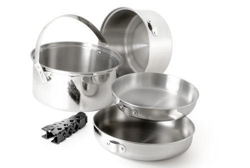 GSI Outdoors Glacier Stainless Steel Cookset, Large