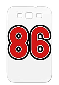 86 F2 Red Sports Number Sports Miscellaneous Age Basketball Digit Back Football Year College Protective Hard Case For Sumsang Galaxy S3