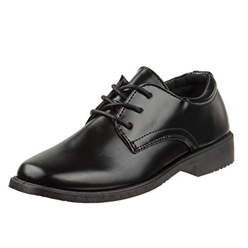 Josmo Boys Basic Oxford Casual Dress Shoe, Black, Size 1'