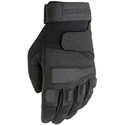 Seibertron Men's Black S.O.L.A.G. Special Ops Full Finger/Light Assault Gloves Tactical full finger Military Combat Army Shooting Gloves S