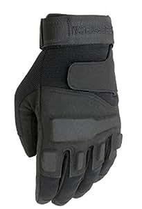 Seibertron Men's Black S.O.L.A.G. Special Ops Full Finger/Light Assault Gloves Tactical full finger (BLACK, XXS)